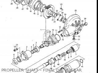 Suzuki Gv700glf Madura 1985 f Usa e03 Propeller Shaft - Final Drive Gear