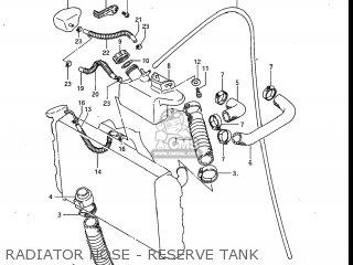Suzuki Gv700glf Madura 1985 f Usa e03 Radiator Hose - Reserve Tank