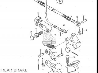 Suzuki Gv700glf Madura 1985 f Usa e03 Rear Brake