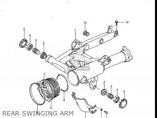 Suzuki Gv700glf Madura 1985 f Usa e03 Rear Swinging Arm