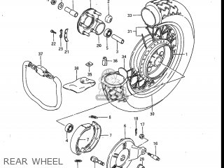 Suzuki Gv700glf Madura 1985 f Usa e03 Rear Wheel