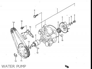 Suzuki Gv700glf Madura 1985 f Usa e03 Water Pump