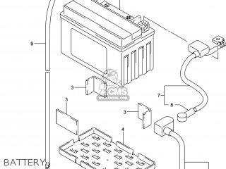 Suzuki Gw250 Inazuma 2014 l4 Usa e03 Battery