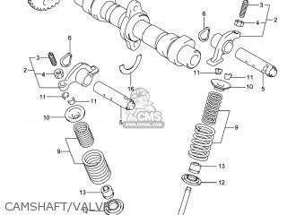 Suzuki Gw250 Inazuma 2014 l4 Usa e03 Camshaft valve