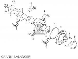 Suzuki Gw250 Inazuma 2014 l4 Usa e03 Crank Balancer