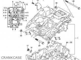 Suzuki Gw250 Inazuma 2014 l4 Usa e03 Crankcase