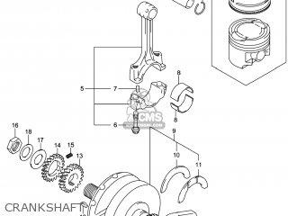 Suzuki Gw250 Inazuma 2014 l4 Usa e03 Crankshaft