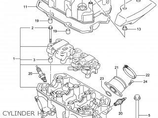 Suzuki Gw250 Inazuma 2014 l4 Usa e03 Cylinder Head