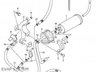 Suzuki Gw250 Inazuma 2014 l4 Usa e03 Evap System