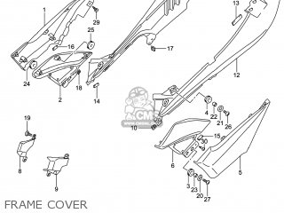 Suzuki Gw250 Inazuma 2014 l4 Usa e03 Frame Cover