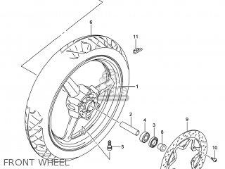 Suzuki Gw250 Inazuma 2014 l4 Usa e03 Front Wheel