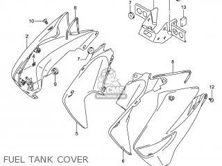 Suzuki Gw250 Inazuma 2014 l4 Usa e03 Fuel Tank Cover