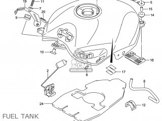 Suzuki Gw250 Inazuma 2014 l4 Usa e03 Fuel Tank