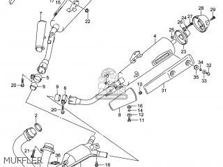 Suzuki Gw250 Inazuma 2014 l4 Usa e03 Muffler
