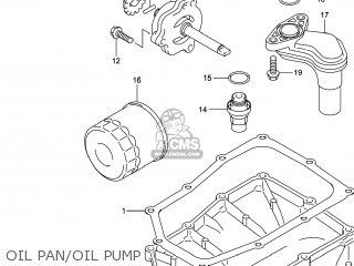 Suzuki Gw250 Inazuma 2014 l4 Usa e03 Oil Pan oil Pump