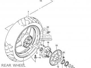 Suzuki Gw250 Inazuma 2014 l4 Usa e03 Rear Wheel