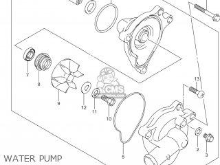 Suzuki Gw250 Inazuma 2014 l4 Usa e03 Water Pump