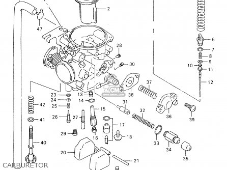 suzuki gz250 2000 (y) (e01) carburetor