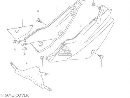 Suzuki Jr80 2001-2004 usa Frame Cover