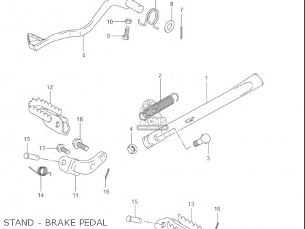 Suzuki Jr80 2001-2004 usa Stand - Brake Pedal