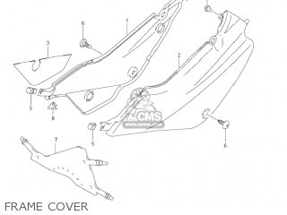 Suzuki Jr80 2001 k1 Usa e03 Frame Cover