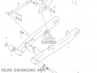 Suzuki Jr80 2001 k1 Usa e03 Rear Swinging Arm