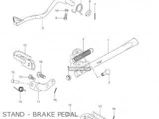 Suzuki Jr80 2001 k1 Usa e03 Stand - Brake Pedal