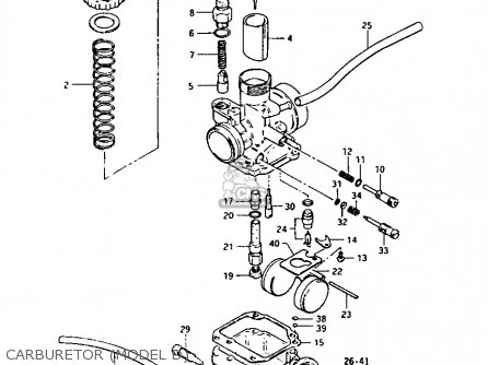 Suzuki Lt-125 1984 e Carburetor model D