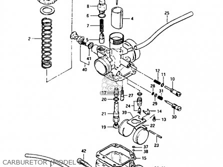 Suzuki Lt-125 1984 e Carburetor model E