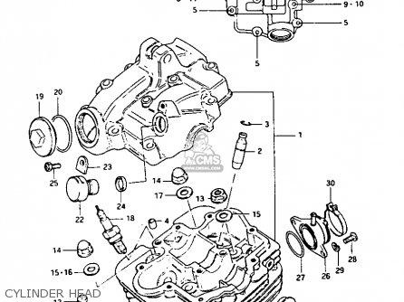 Suzuki Lt-125 1984 e Cylinder Head