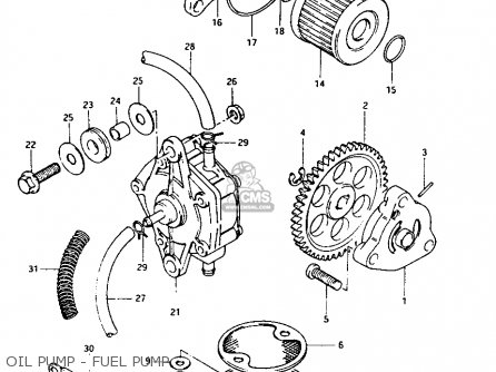 Suzuki Lt-125 1984 e Oil Pump - Fuel Pump