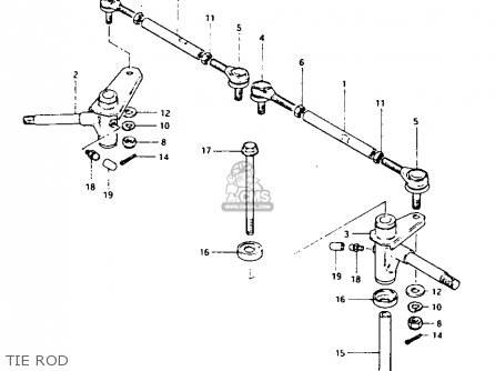 Suzuki Lt-125 1984 e Tie Rod