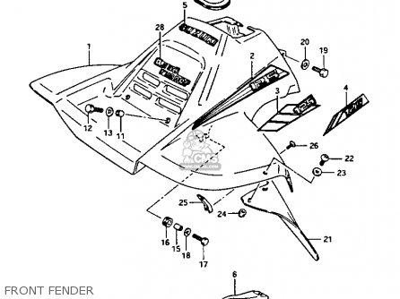 suzuki lt 125 1986 g parts list partsmanual partsfiche. Black Bedroom Furniture Sets. Home Design Ideas