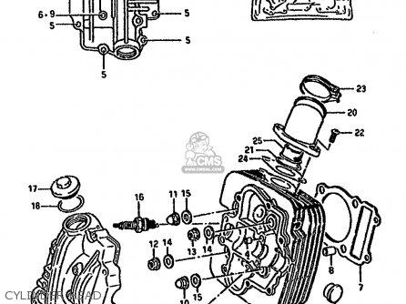 Suzuki Lt-f4 1987 wdh Cylinder Head