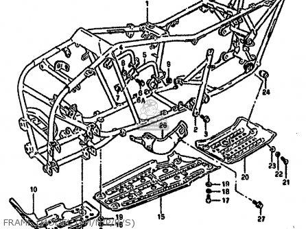 Suzuki Lt-f4 1987 wdh Frame model L m n p r s