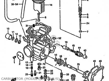 Suzuki Lt-f4 1988 wdj Carburetor model L m n p r s