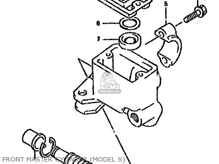 Suzuki Lt-f4 1988 wdj Front Master Cylinder model S