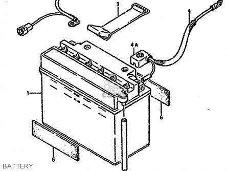 Suzuki Lt-f4 1990 wdl Battery