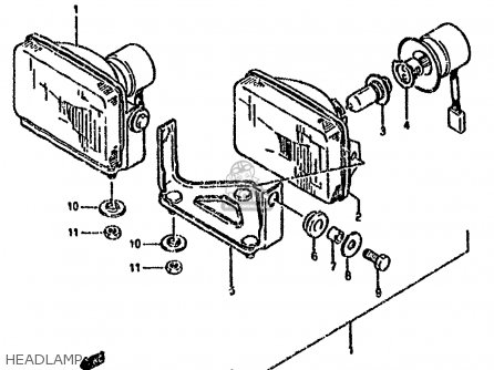 Suzuki Lt-f4 1990 wdl Headlamp