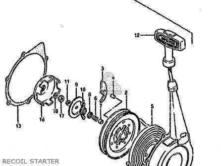 Suzuki Lt-f4 1990 wdl Recoil Starter