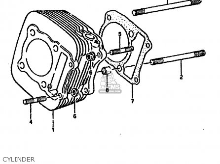 Suzuki Lt-f4 1991 wdm Cylinder