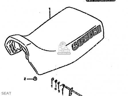 Suzuki Lt-f4 1991 wdm Seat