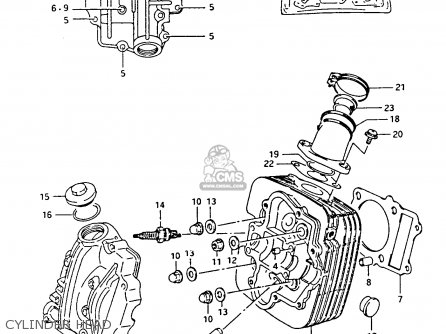 Suzuki Lt-f4 1991 wdxm Cylinder Head