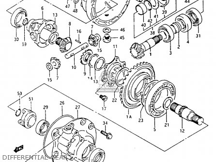 Suzuki Lt-f4 1991 wdxm Differential Gear