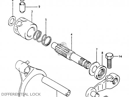 Suzuki Lt-f4 1991 wdxm Differential Lock
