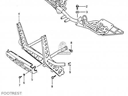 Suzuki Lt-f4 1991 wdxm Footrest