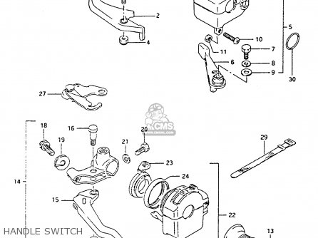Suzuki Lt-f4 1991 wdxm Handle Switch