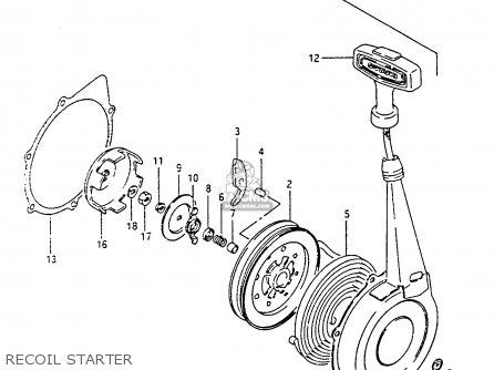 Suzuki Lt-f4 1991 wdxm Recoil Starter