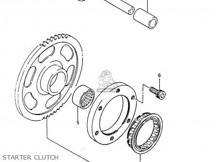 Suzuki Lt-f4 1991 wdxm Starter Clutch