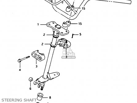 Suzuki Lt-f4 1991 wdxm Steering Shaft